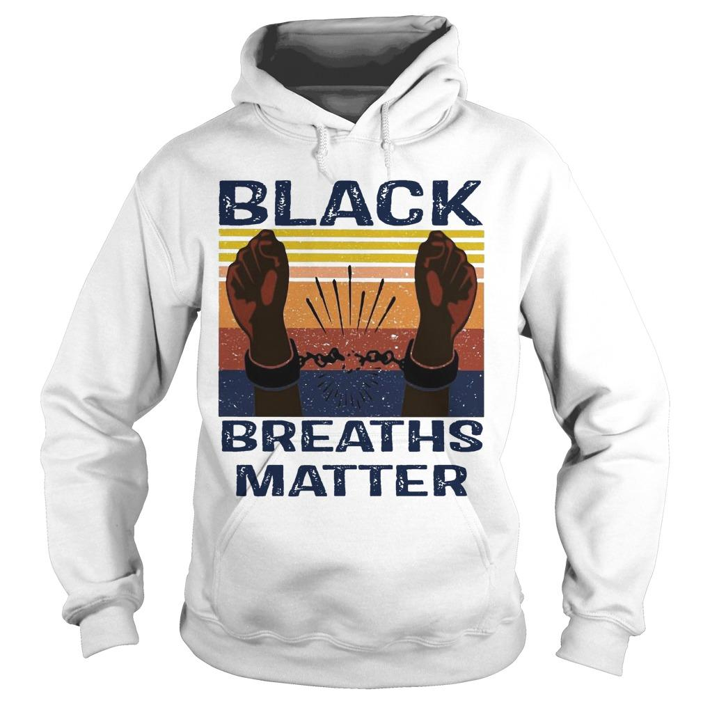 Vintage Black Breaths Matter Hoodie