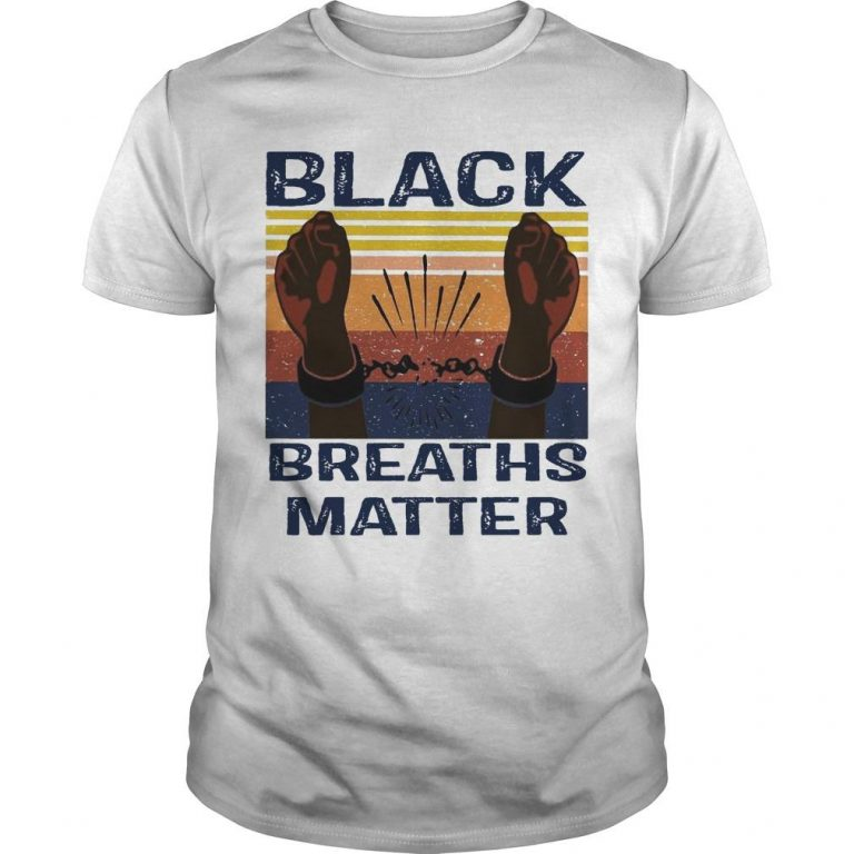 Vintage Black Breaths Matter Shirt