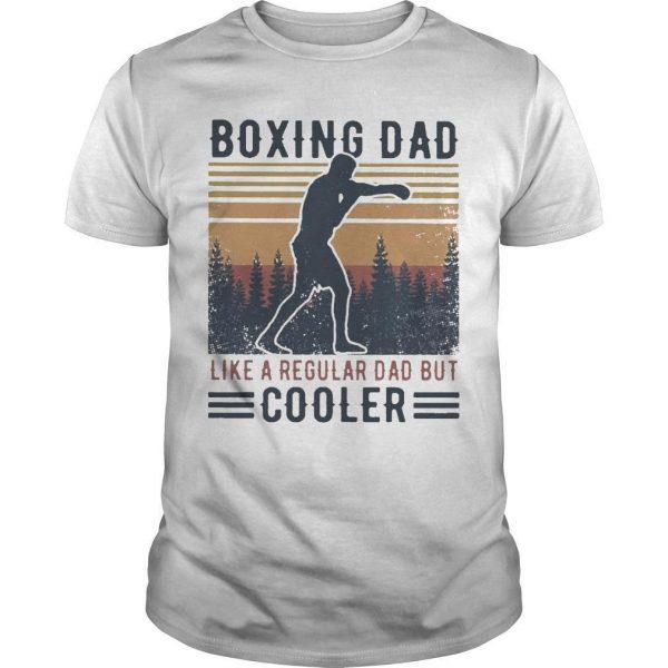 Vintage Boxing Dad Like A Regular Dad But Cooler Shirt