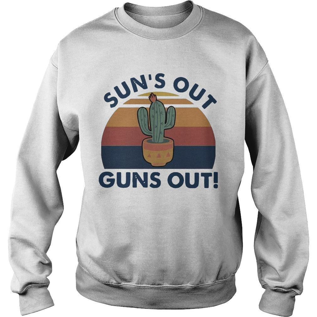 Vintage Cactus Sun's Out Guns Out Sweater