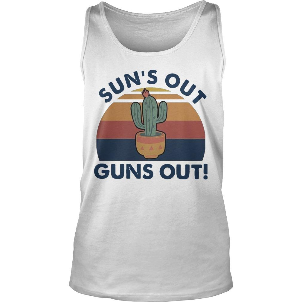 Vintage Cactus Sun's Out Guns Out Tank Top