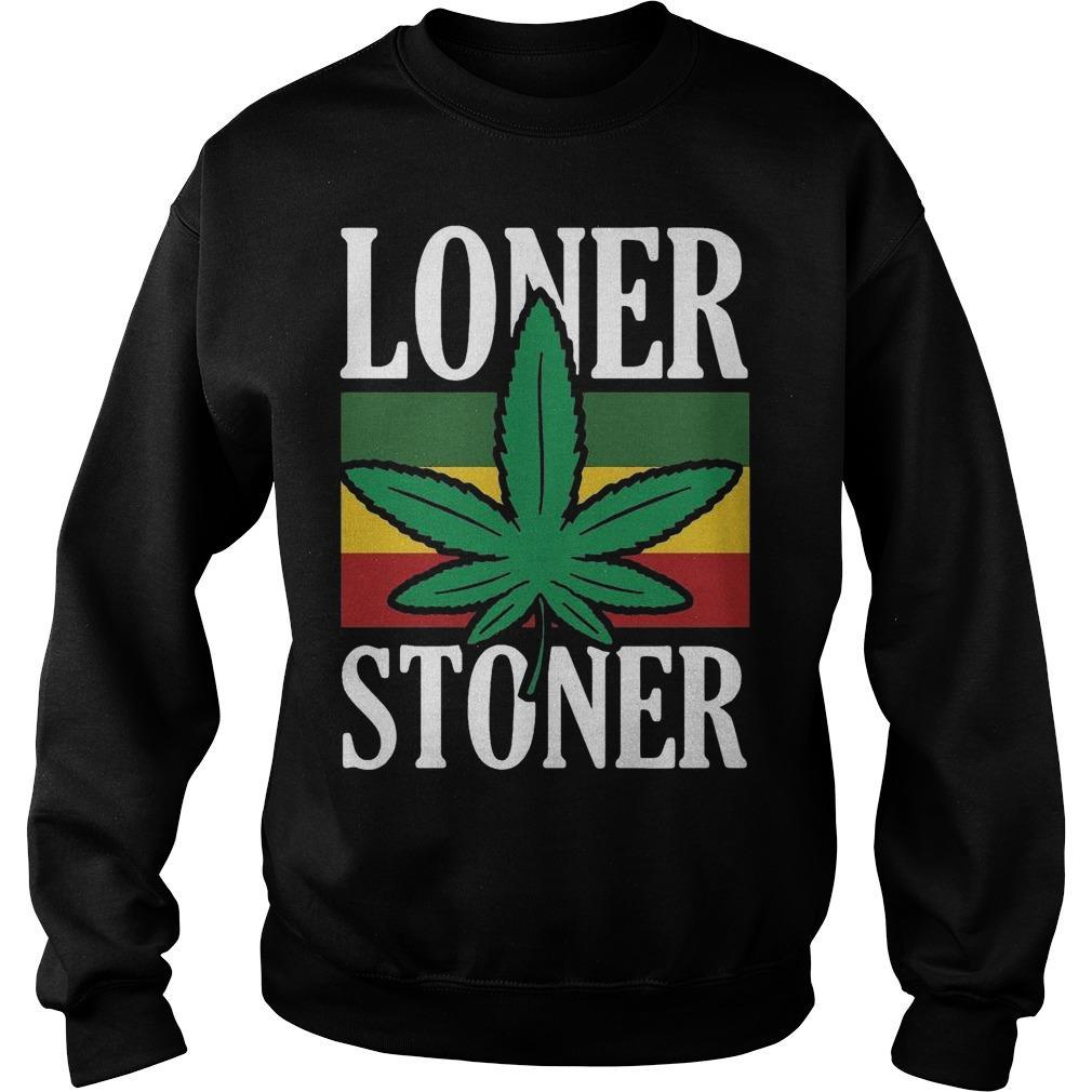 Vintage Cannabis Weed Loner Stoner Sweater