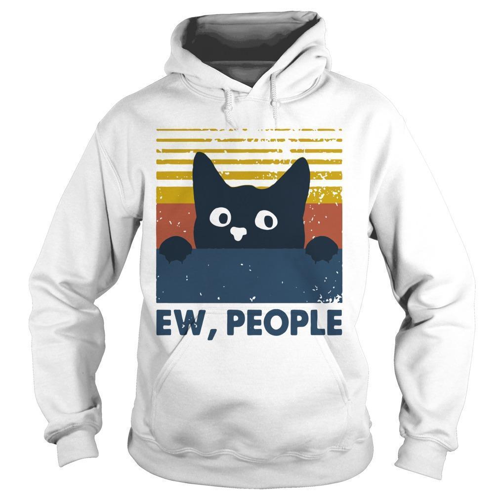 Vintage Cat Ew People Hoodie