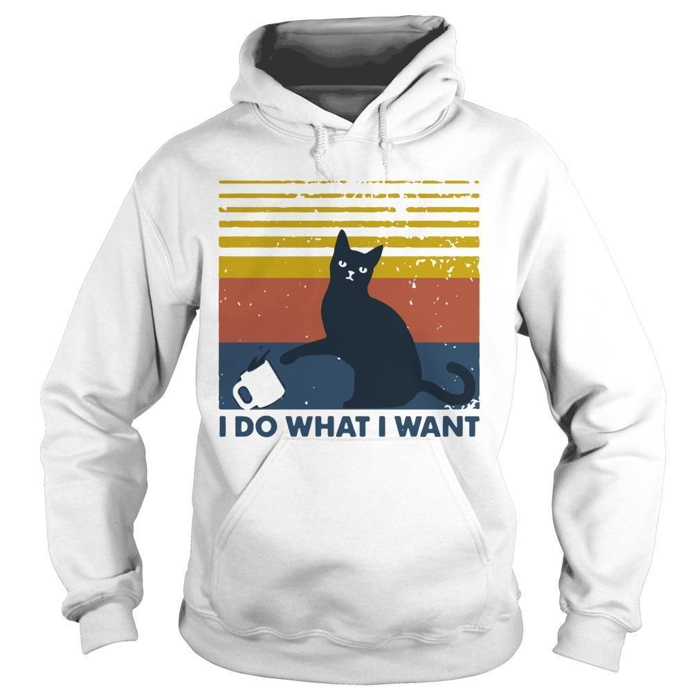 Vintage Cat I Do What I Want Hoodie