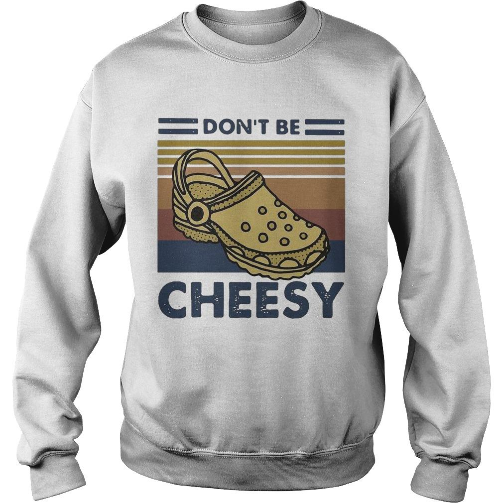 Vintage Crocs Don't Be Cheesy Sweater