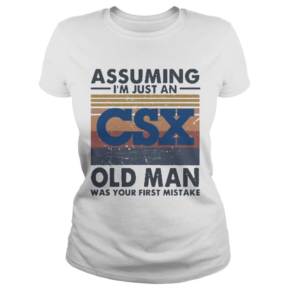 Vintage Csx Corporation Assuming I'm Just An Old Man Longsleeve