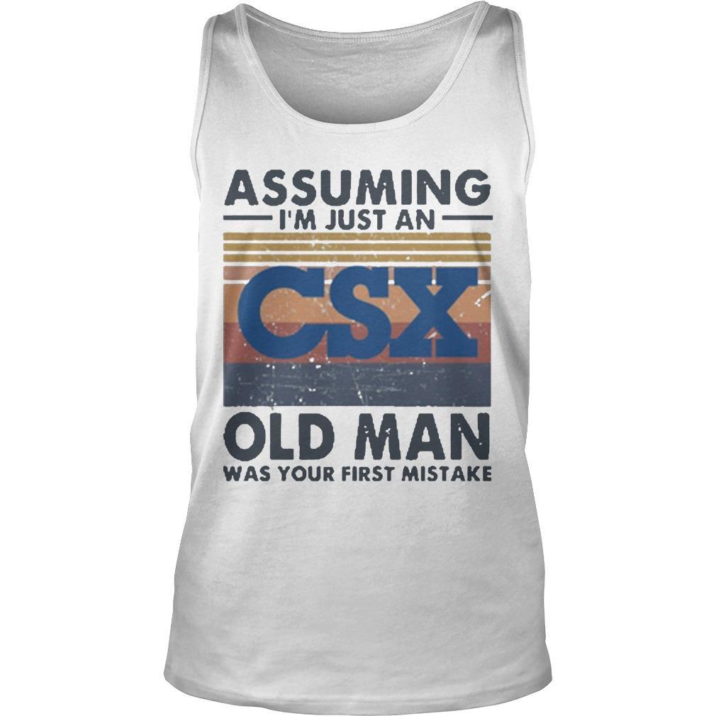 Vintage Csx Corporation Assuming I'm Just An Old Man Tank Top