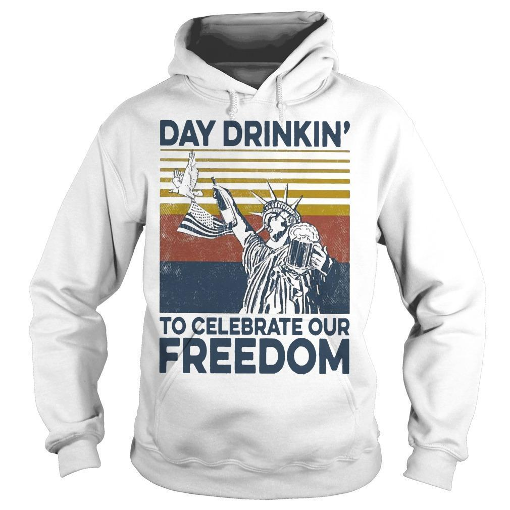Vintage Day Drinkin' To Celebrate Our Freedom Hoodie