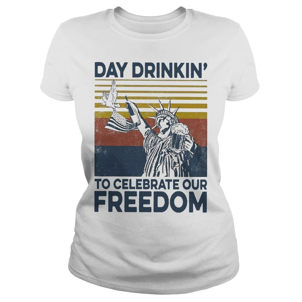 Vintage Day Drinkin' To Celebrate Our Freedom Longsleeve