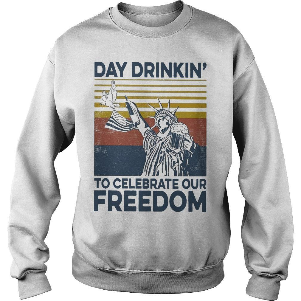 Vintage Day Drinkin' To Celebrate Our Freedom Sweater