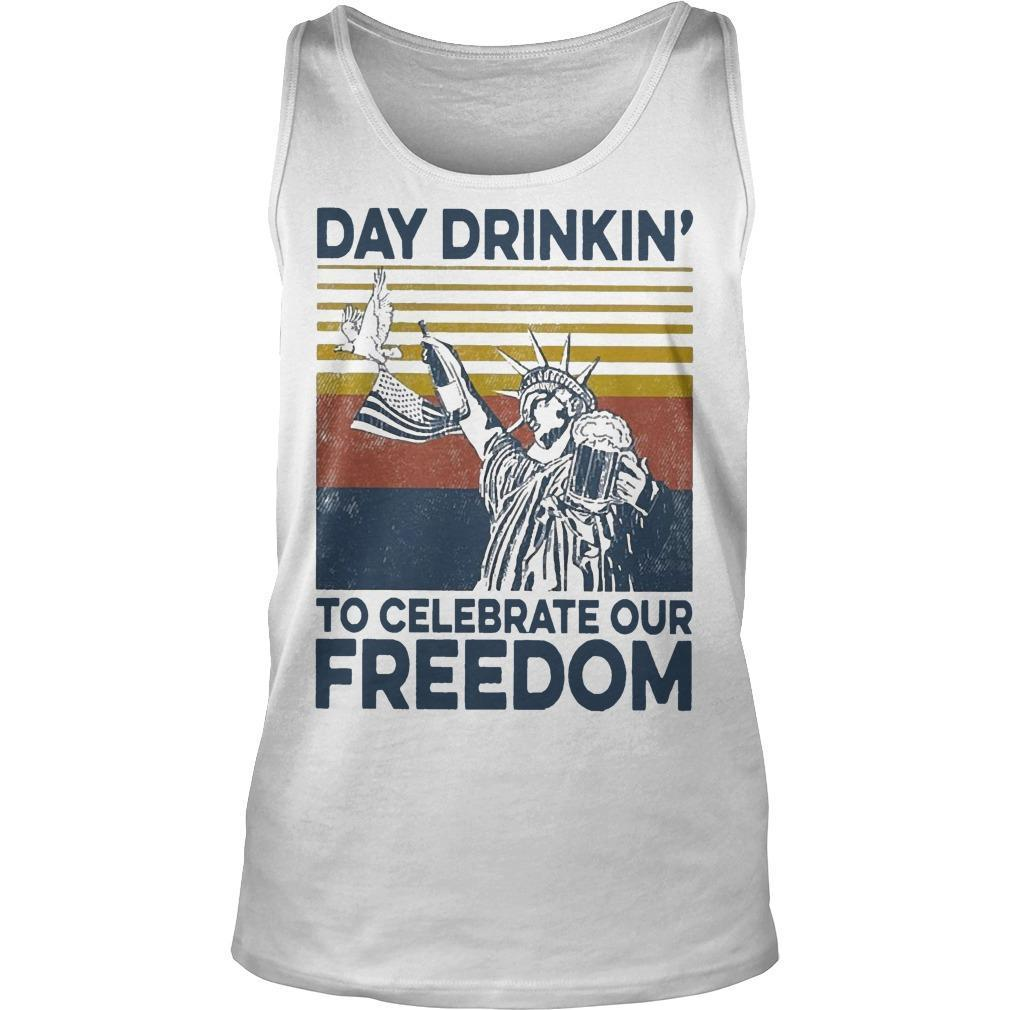 Vintage Day Drinkin' To Celebrate Our Freedom Tank Top