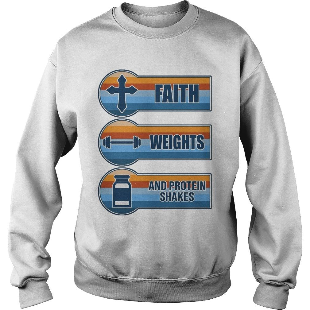 Vintage Faith Weights And Protein Shakes Sweater