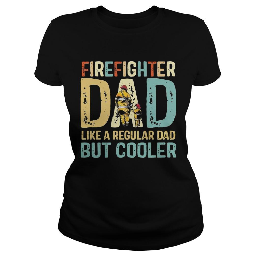 Vintage Firefighter Dad Like A Regular Dad But Cooler Longsleeve