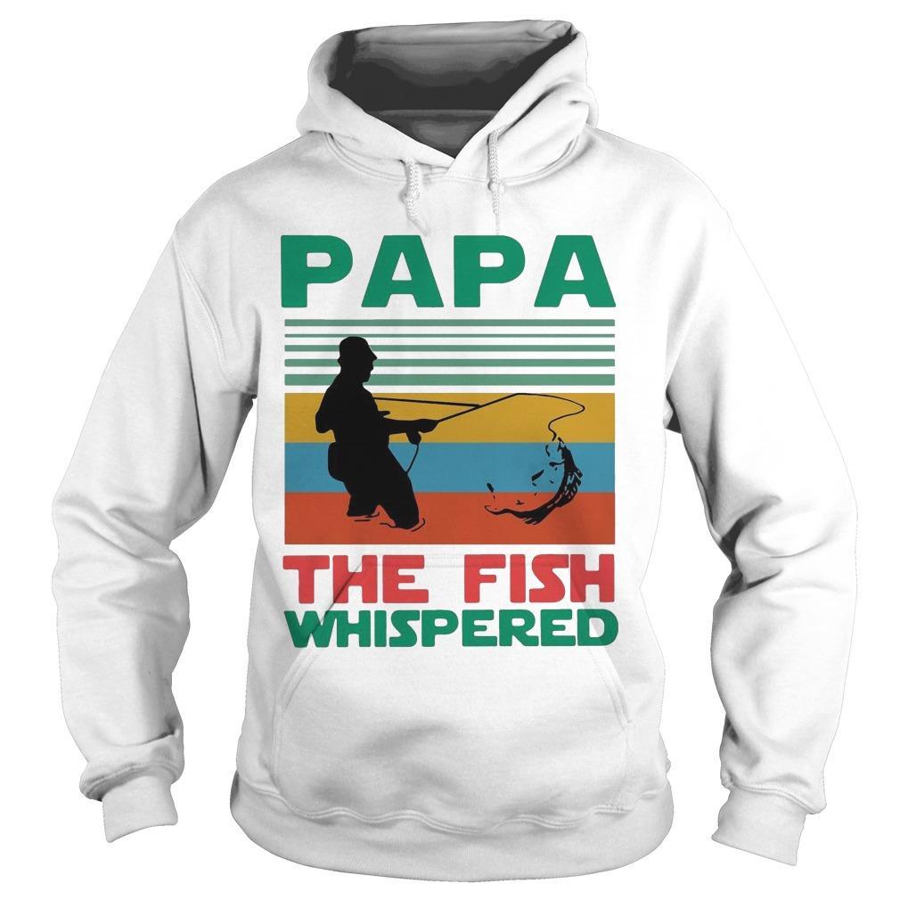 Vintage Fishing Papa The Fish Whisperer Hoodie