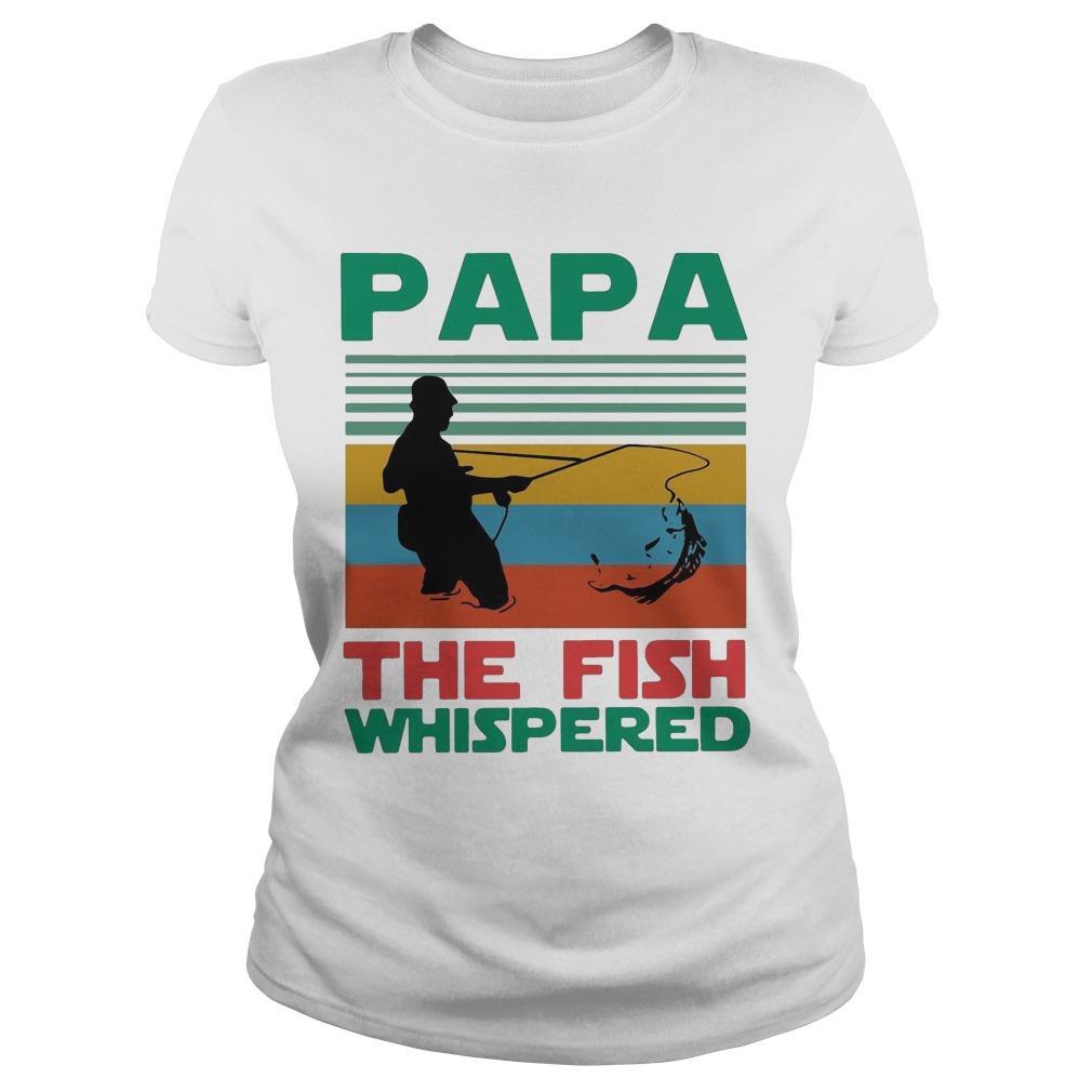 Vintage Fishing Papa The Fish Whisperer Longsleeve