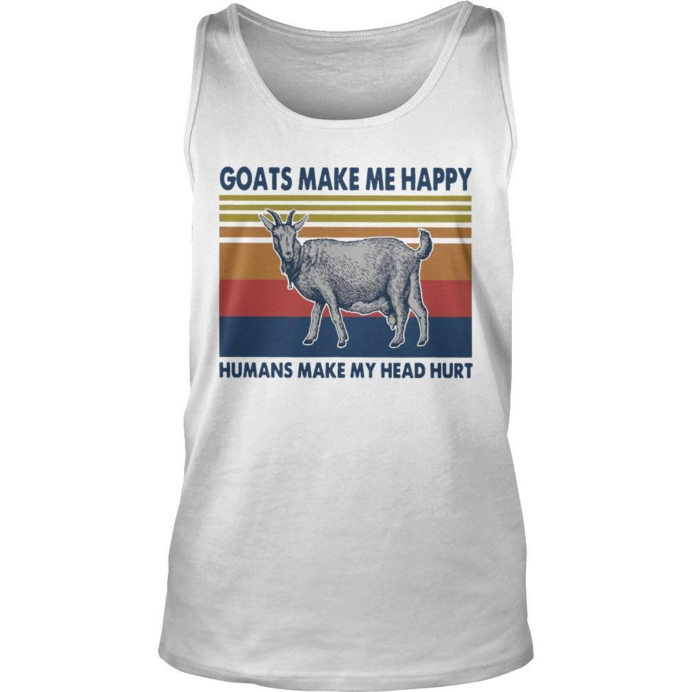 Vintage Goats Make Me Happy Humans Make My Head Hurt Tank Top
