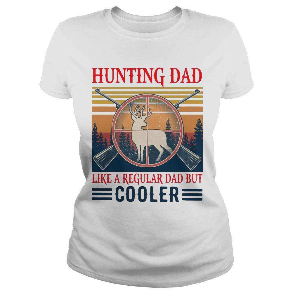 Vintage Hunting Dad Like A Regular Dad But Cooler Longsleeve
