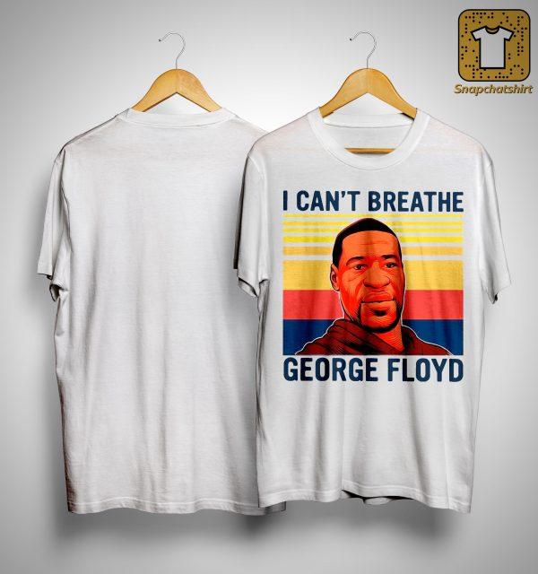 Vintage I Can't Breathe George Floyd Shirt