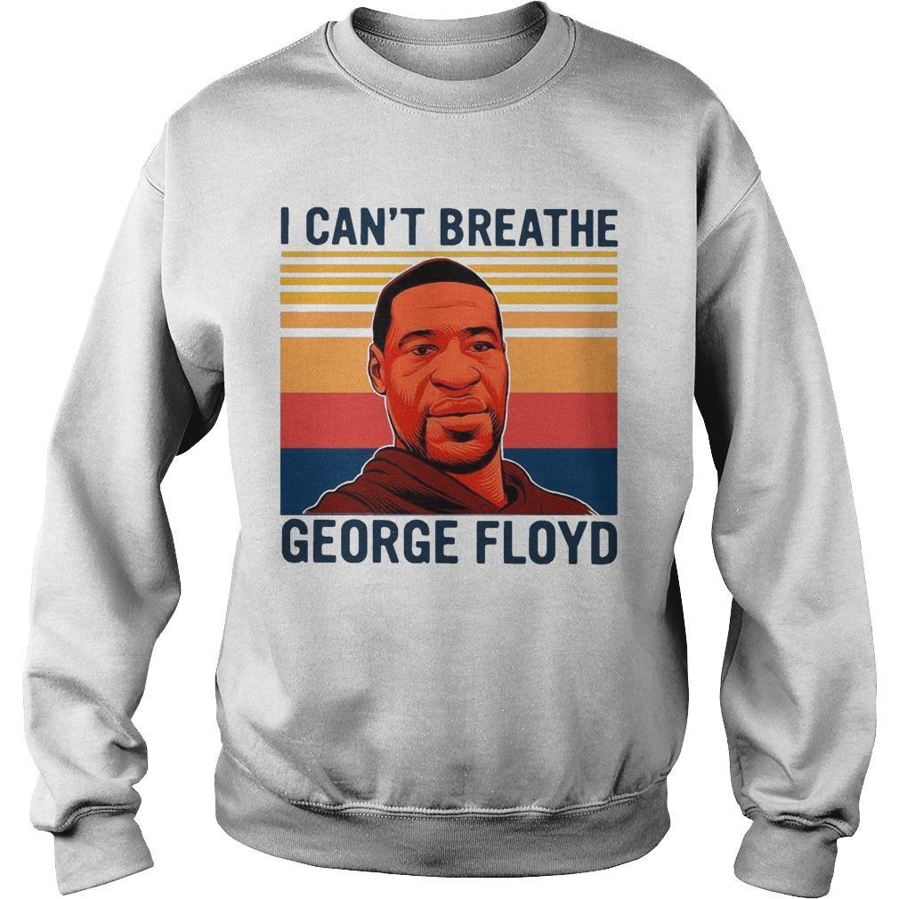 Vintage I Can't Breathe George Floyd Sweater