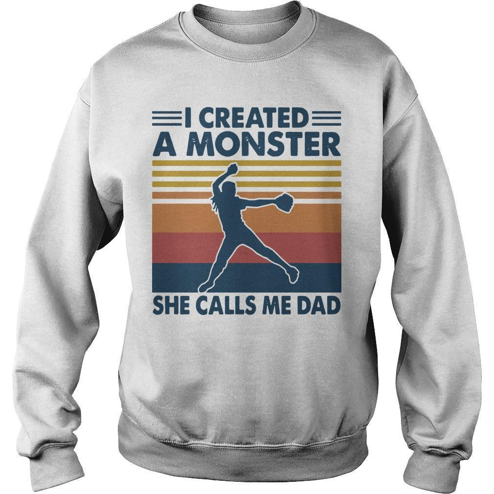 Vintage I Created A Monster She Calls Me Dad Sweater