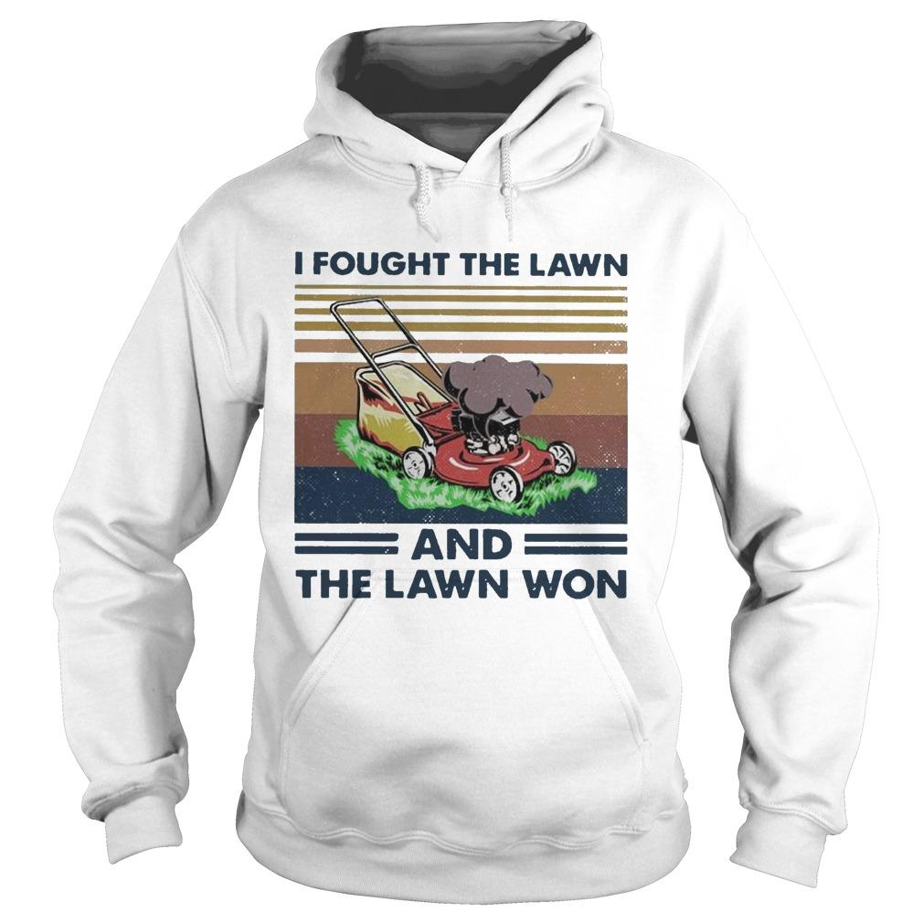 Vintage I Fought The Lawn And The Lawn Won Hoodie