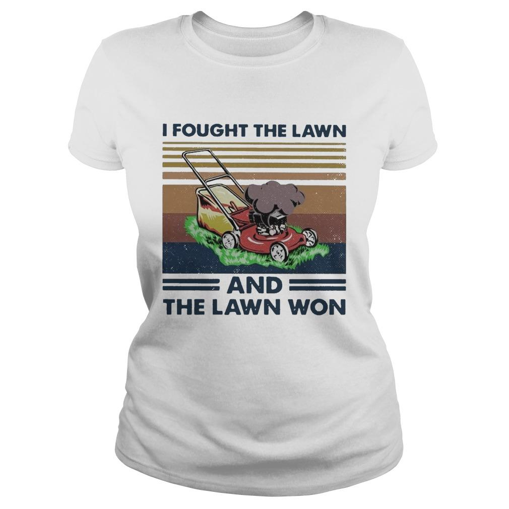 Vintage I Fought The Lawn And The Lawn Won Longsleeve