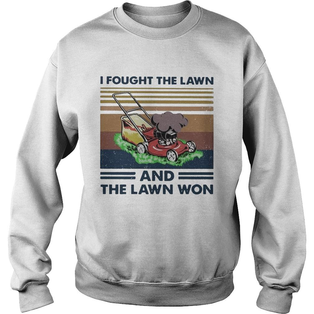 Vintage I Fought The Lawn And The Lawn Won Sweater