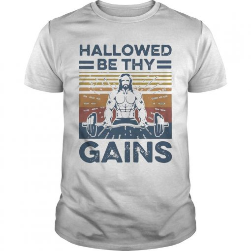 Vintage Jesus Hallowed Be Thy Gains Shirt