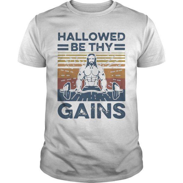 Vintage Jesus Hallowed Be Thy Gains Shirt