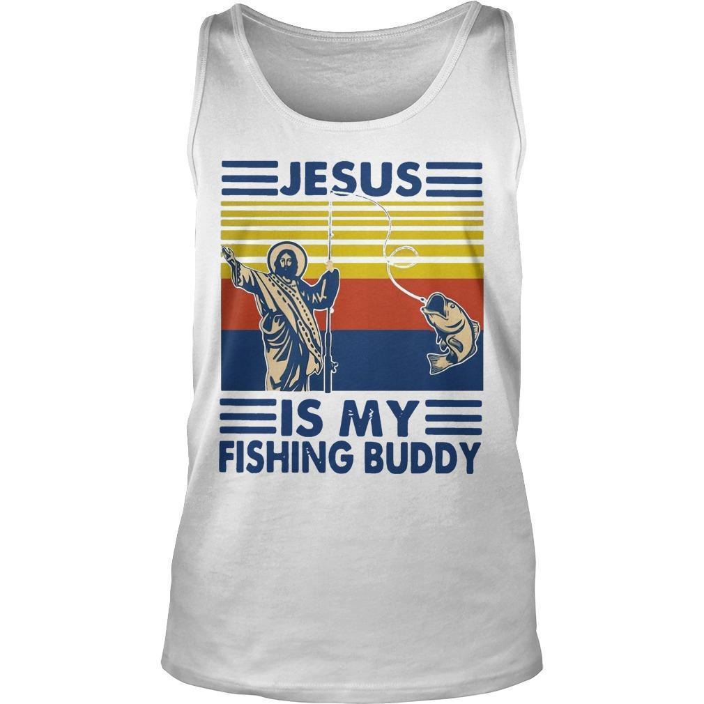 Vintage Jesus Is My Fishing Buddy Tank Top