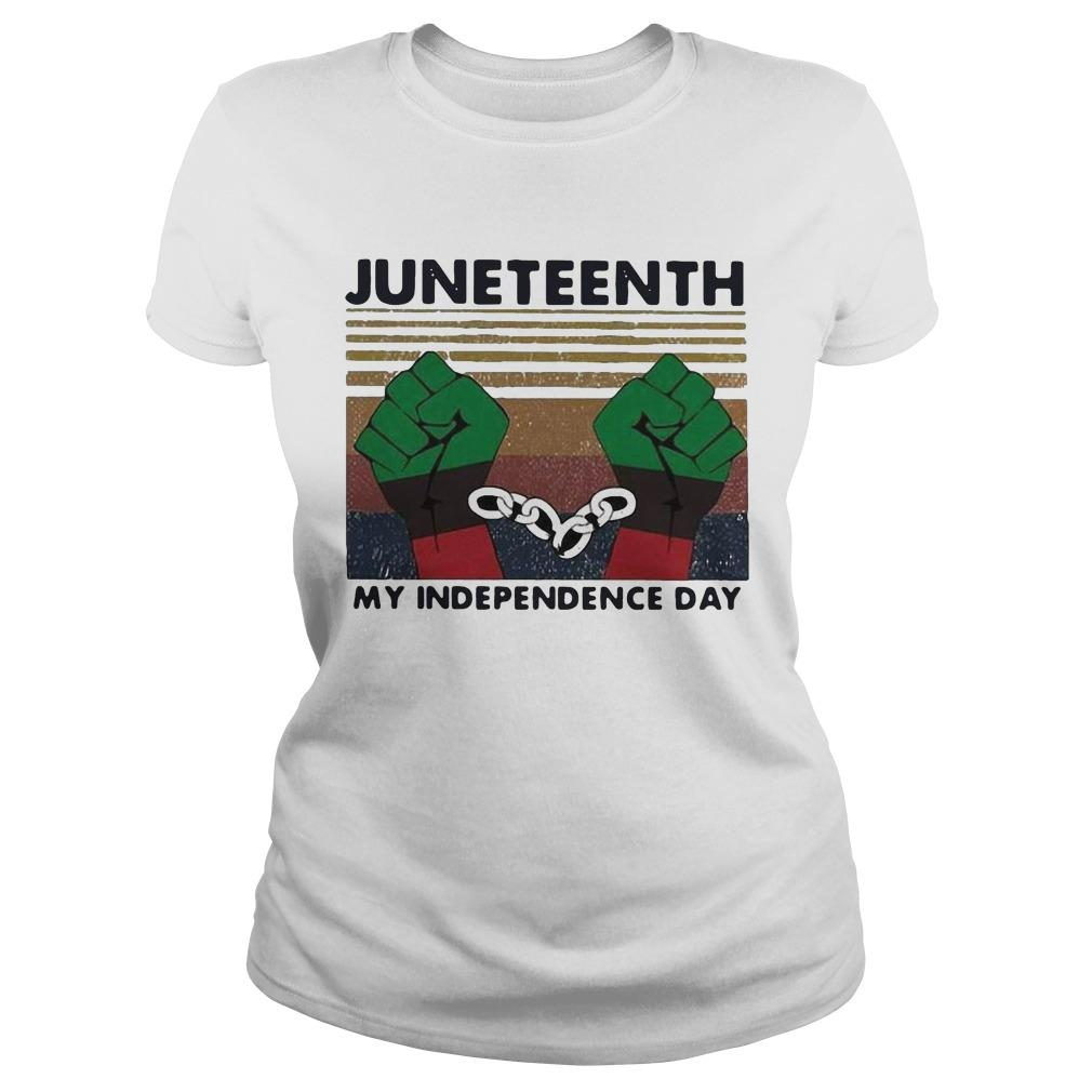 Vintage Juneteenth My Independence Day Longsleeve