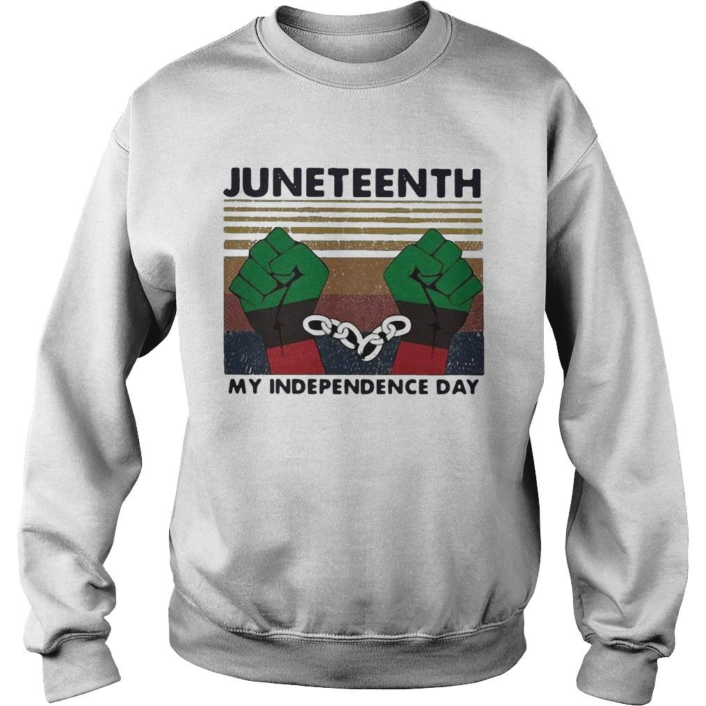 Vintage Juneteenth My Independence Day Sweater