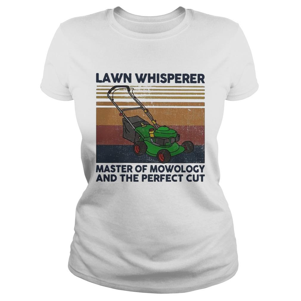 Vintage Lawn Whisperer Master Of Mowology And The Perfect Cut Longsleeve
