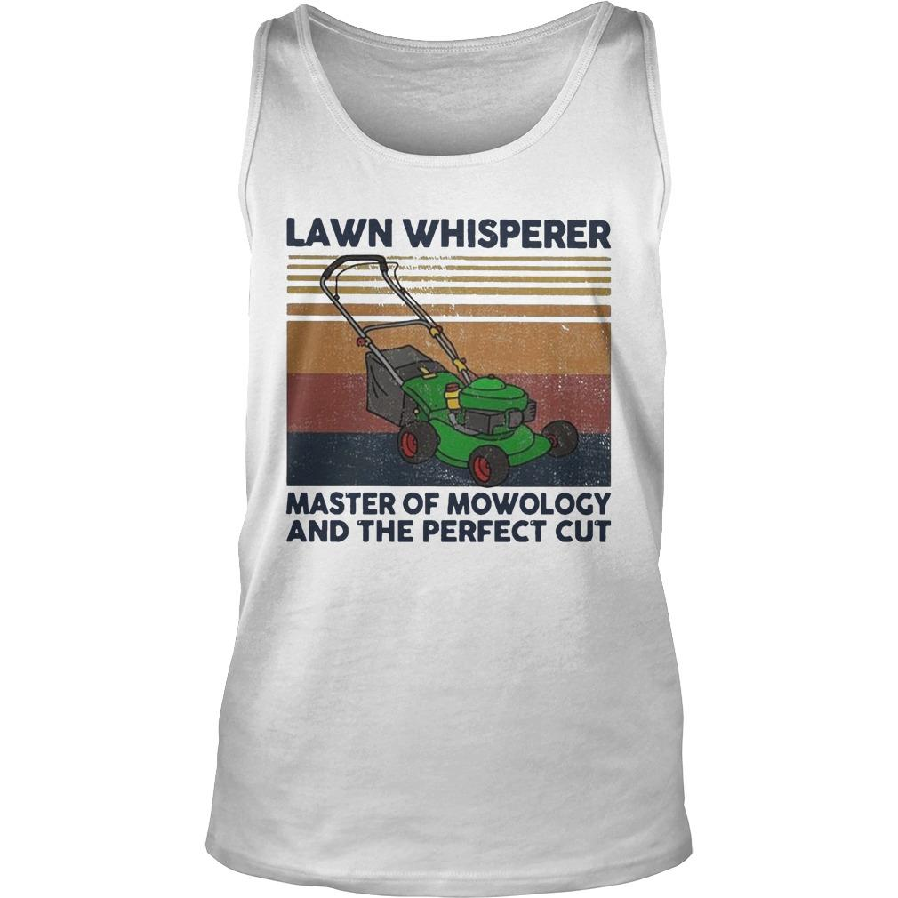 Vintage Lawn Whisperer Master Of Mowology And The Perfect Cut Tank Top