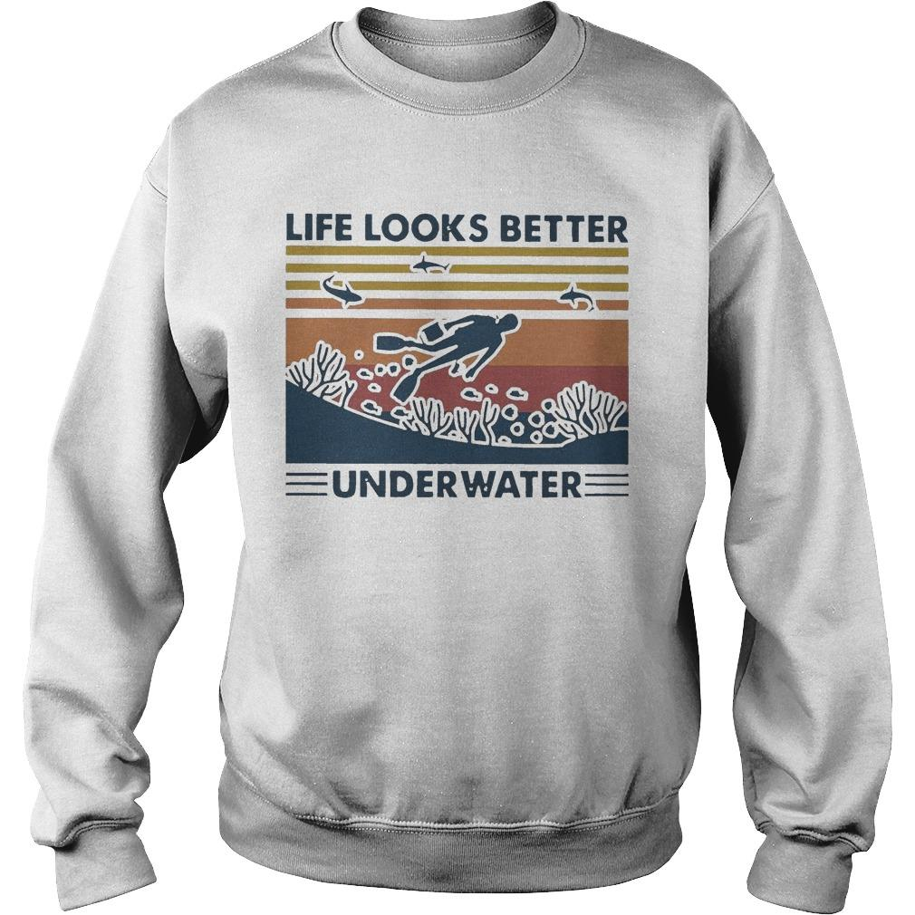 Vintage Life Looks Better Underwater Sweater