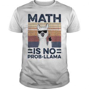 Vintage Math Is No Prob Llama Shirt