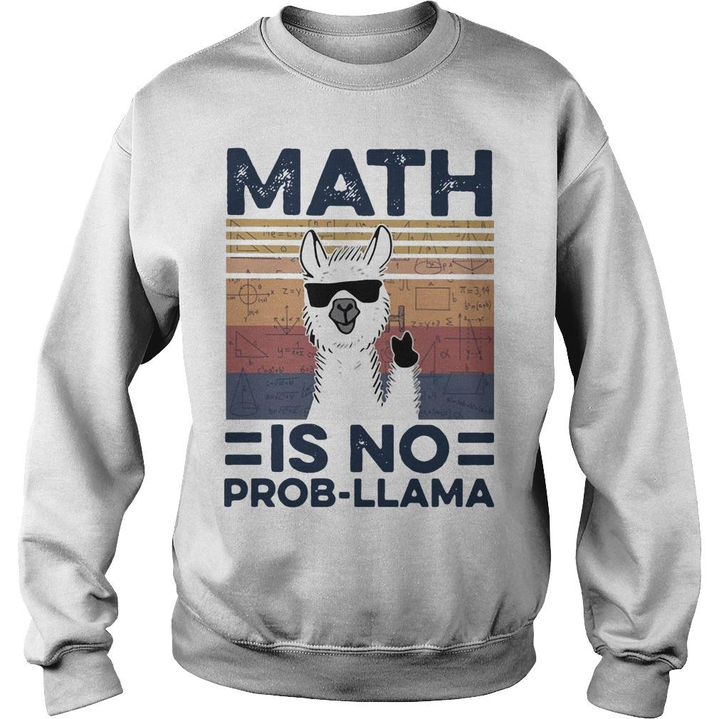Vintage Math Is No Prob Llama Sweater