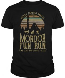 Vintage Middle Earth's Annual Mordor Fun Run Shirt