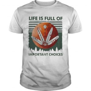 Vintage Moon Life Is Full Of Important Choices Shirt