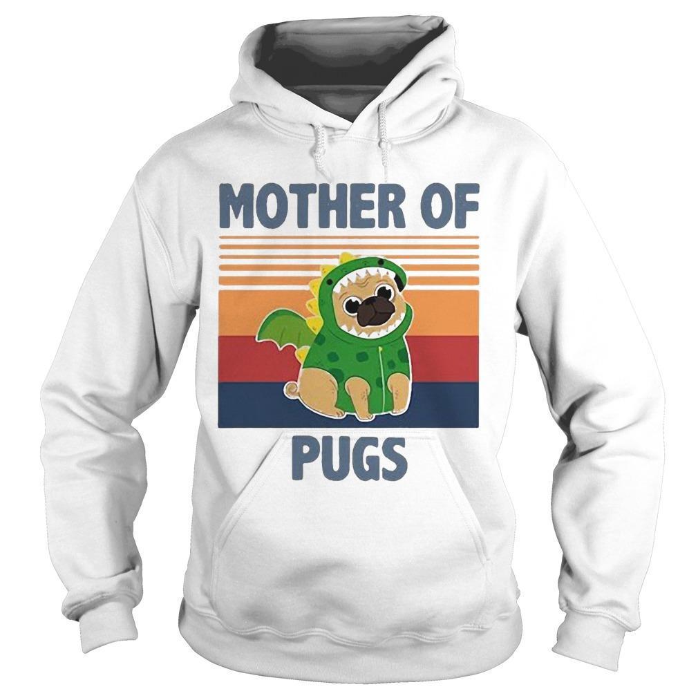 Vintage Mother Of Pugs Hoodie