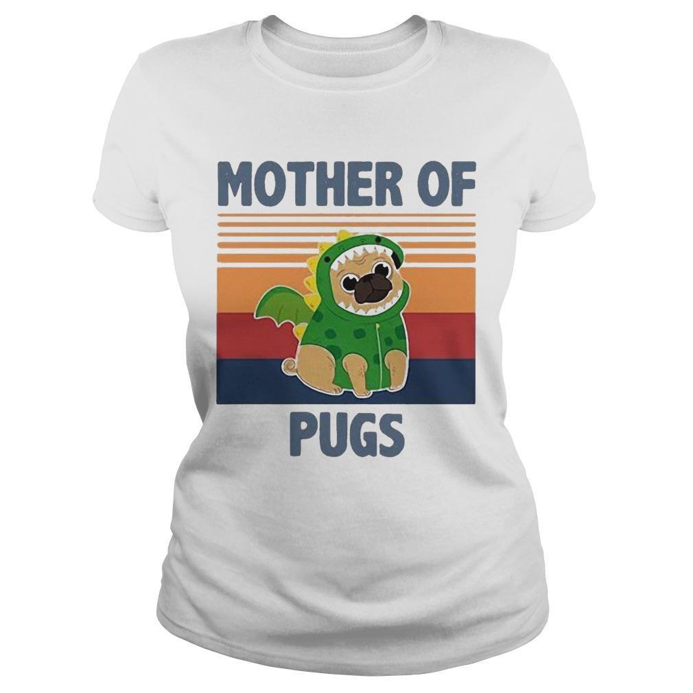 Vintage Mother Of Pugs Longsleeve