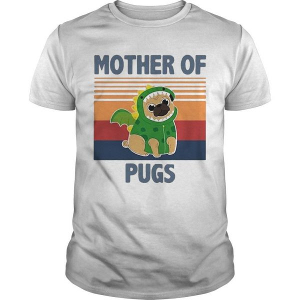 Vintage Mother Of Pugs Shirt