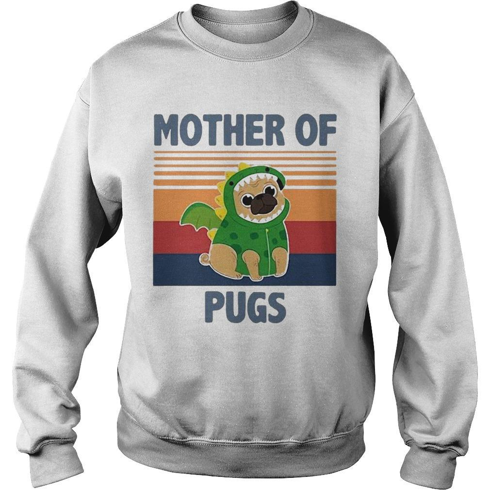 Vintage Mother Of Pugs Sweater