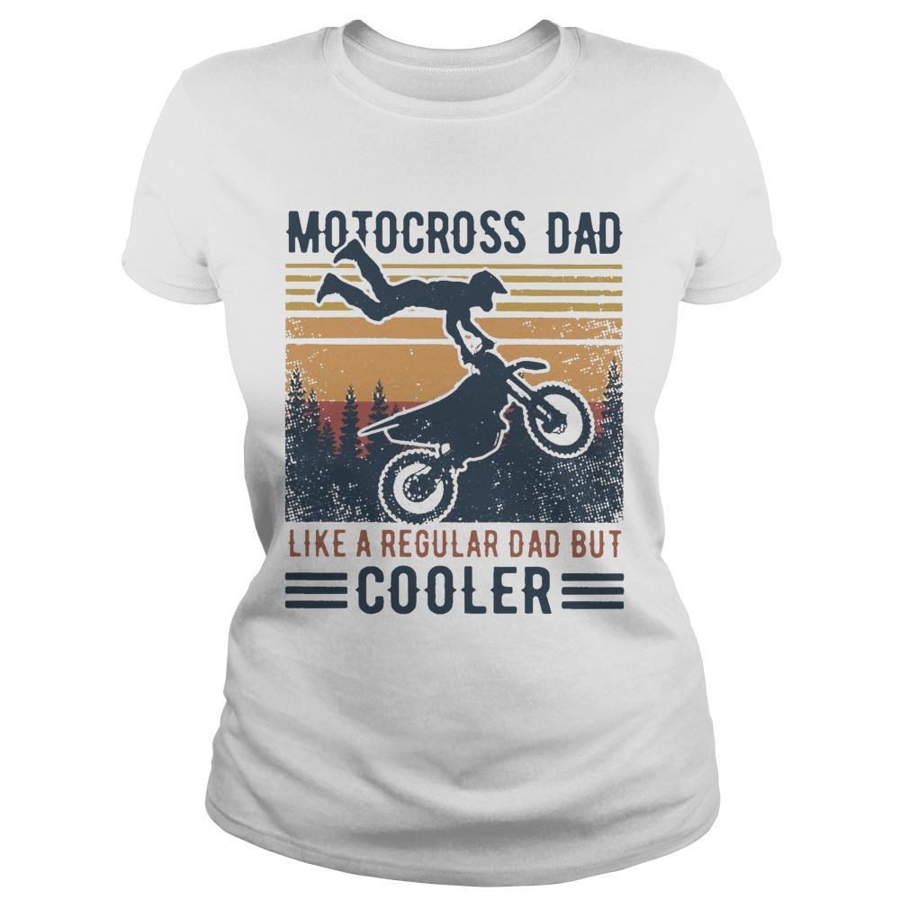Vintage Motocross Dad Like A Regular Dad But Cooler Longsleeve