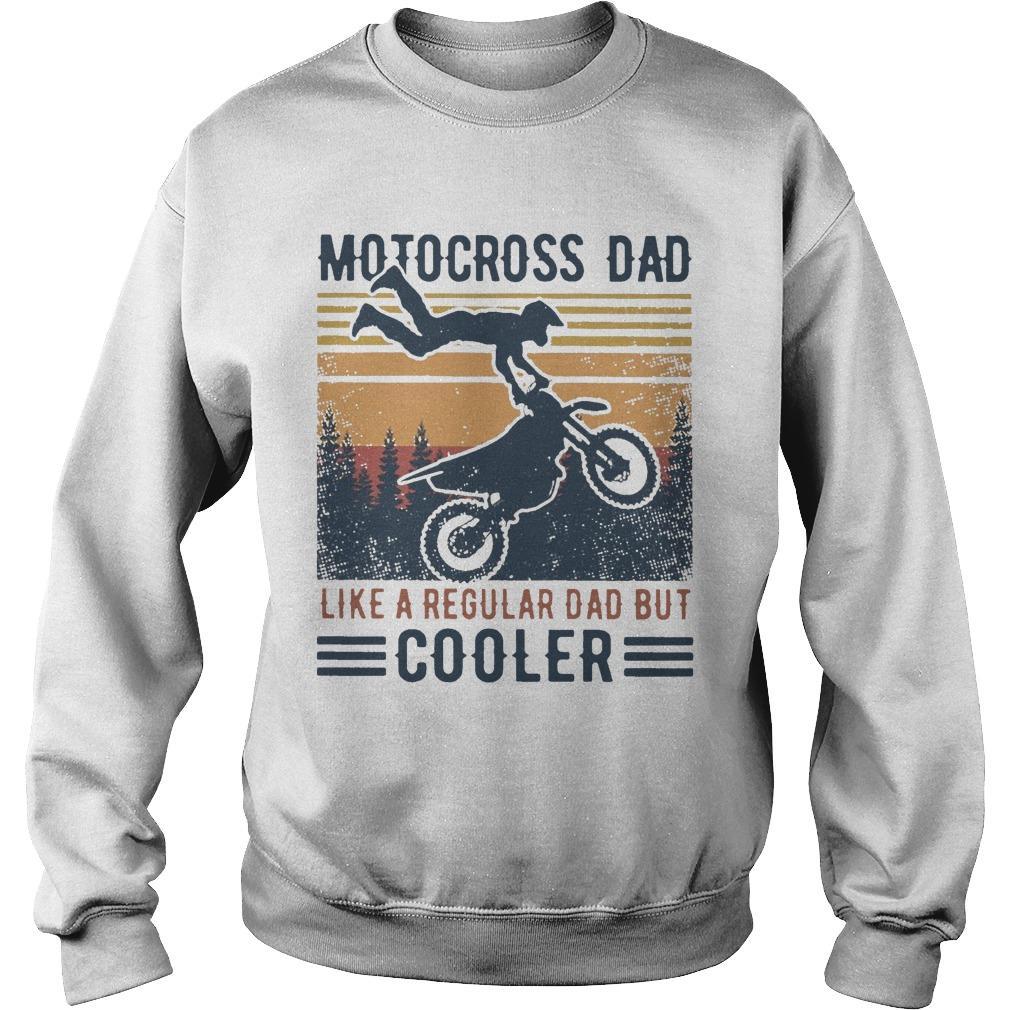 Vintage Motocross Dad Like A Regular Dad But Cooler Sweater