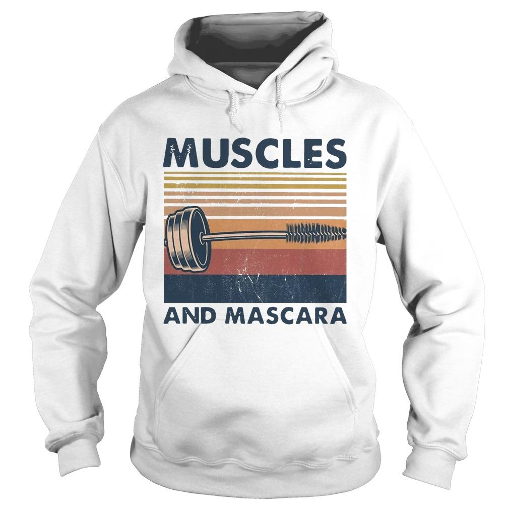 Vintage Muscles And Mascara Hoodie