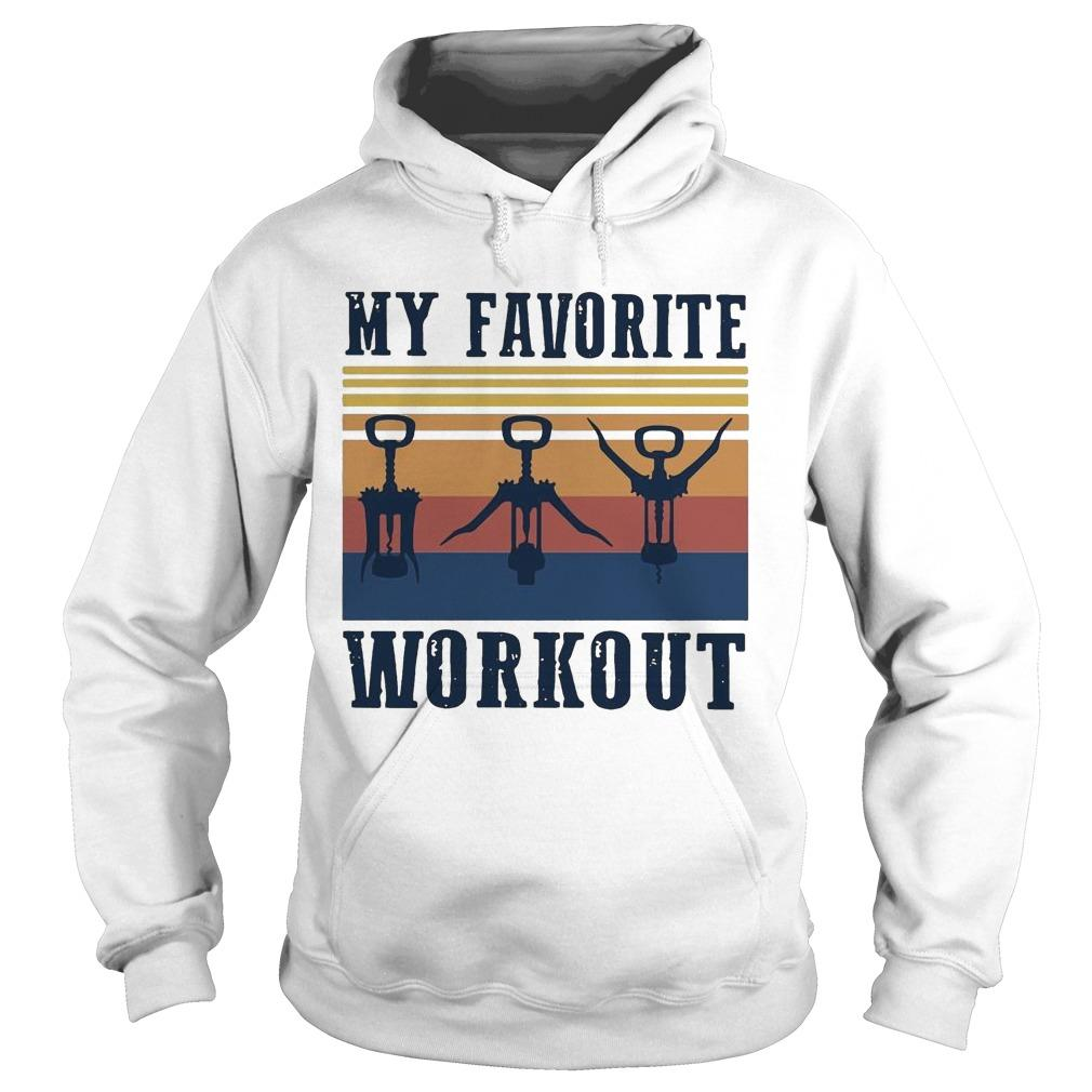 Vintage My Favorite Workout Hoodie