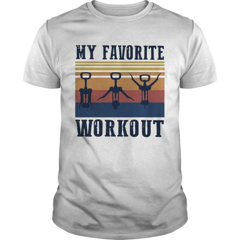 Vintage My Favorite Workout Shirt
