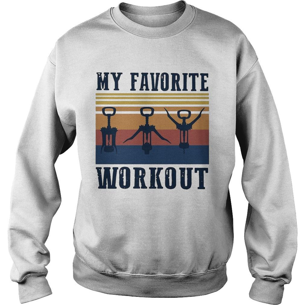 Vintage My Favorite Workout Sweater