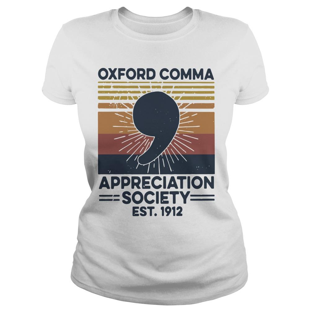Vintage Oxford Comma Appreciation Society Est 1912 Longsleeve